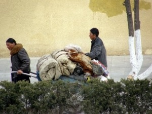 Tibeter auf der Flucht