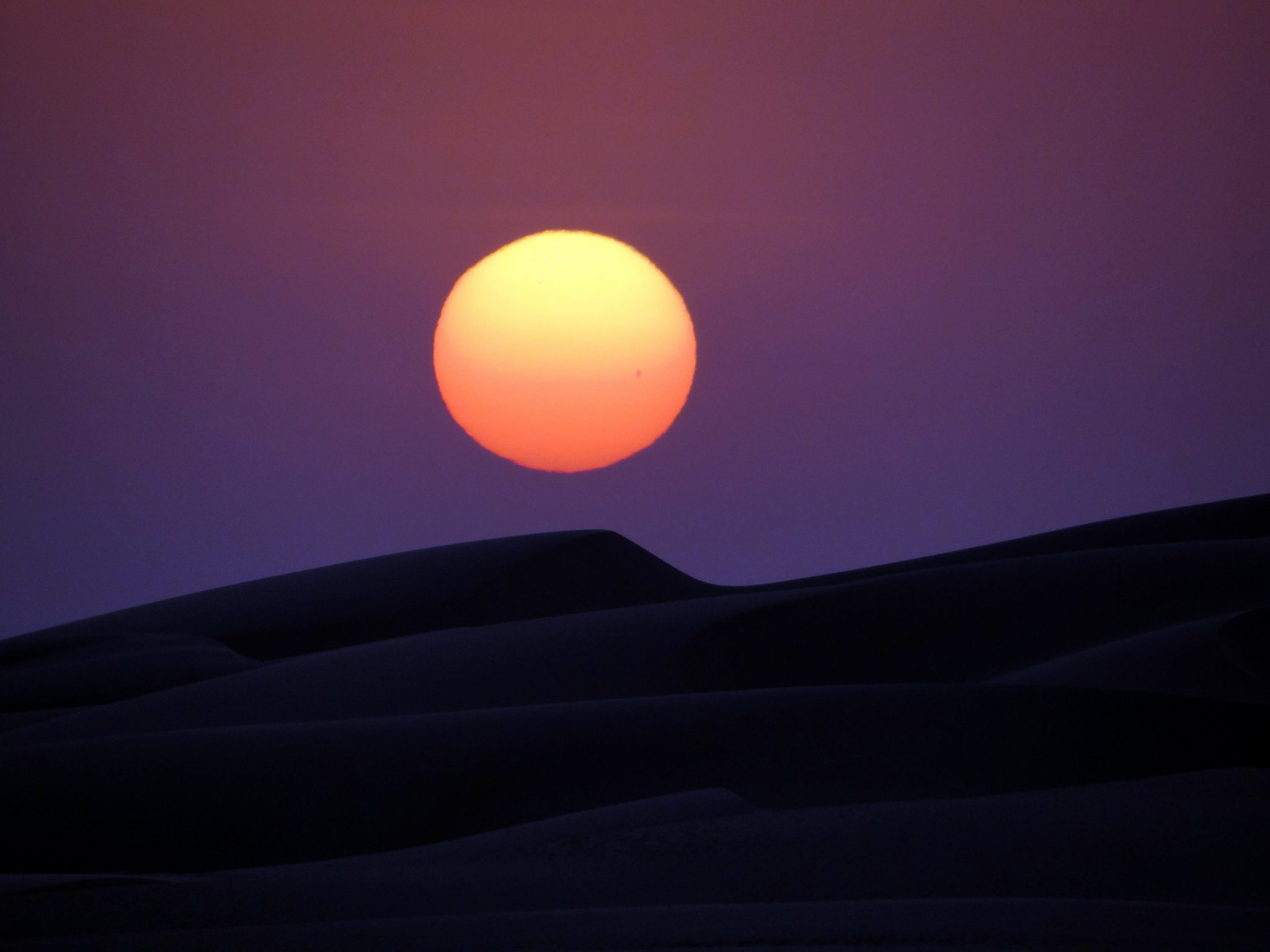 sunset over sanddune