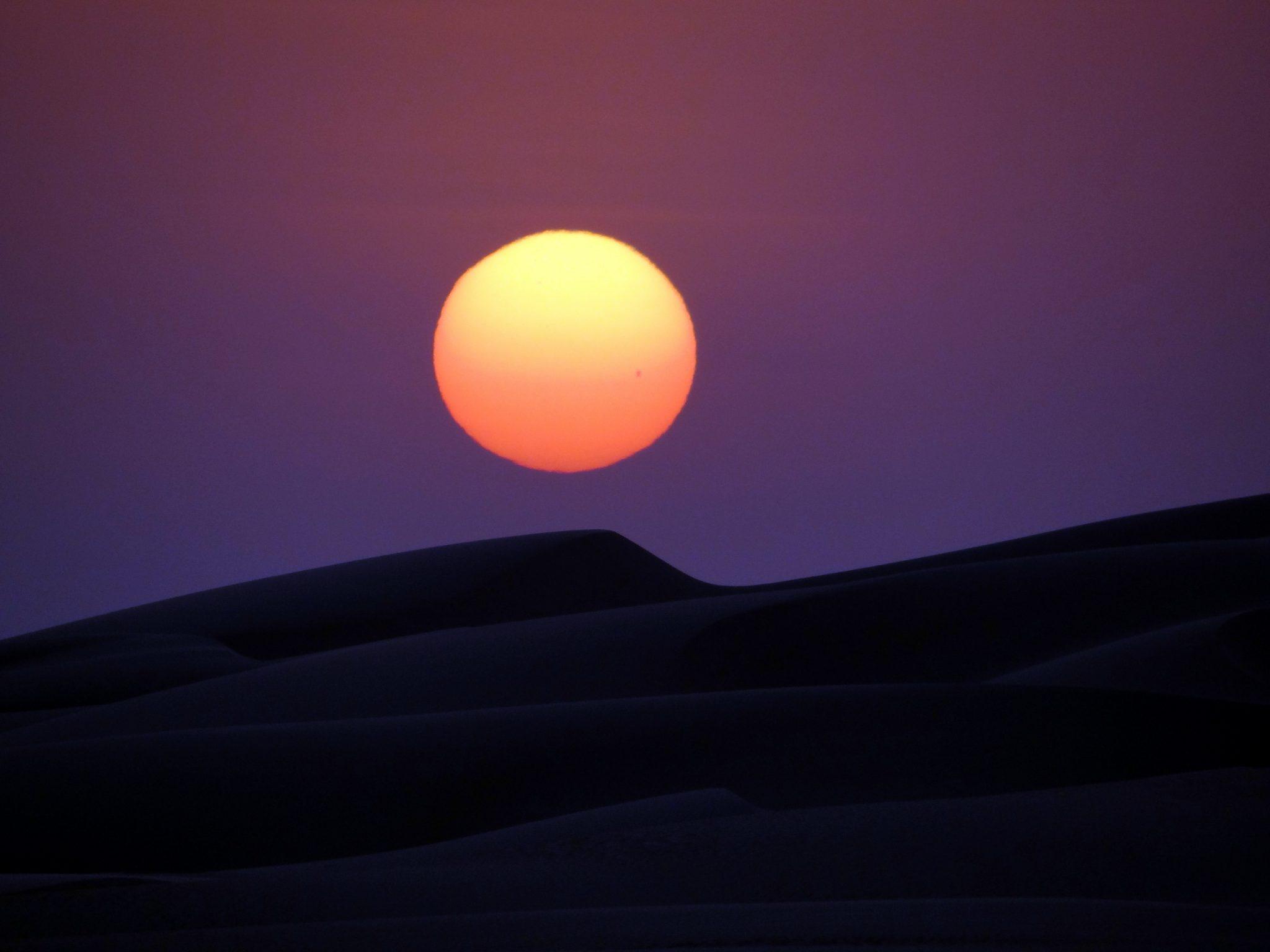 sunset over sanddune
