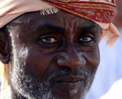 Omaner mit afrikanischen Wurzeln Gesicht