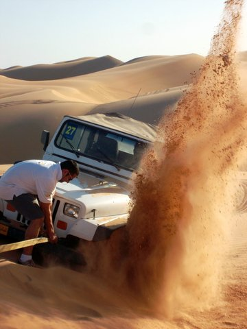 stuck in the sand, Oman
