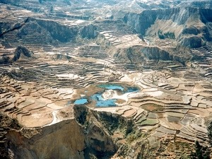 Terrassenlandschaft Peru