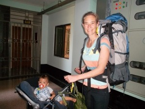 Backpacking with baby in stroller