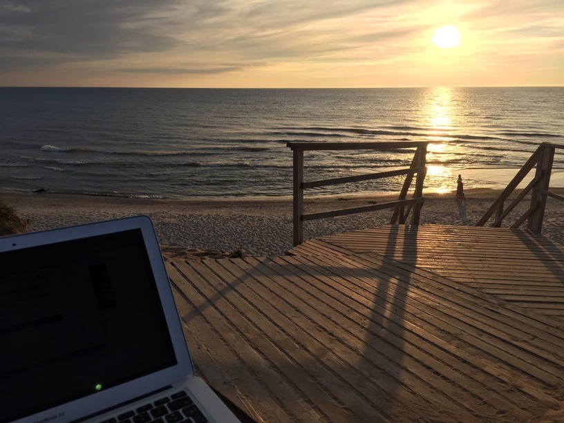 Arbeitsplatz digitale Nomadin